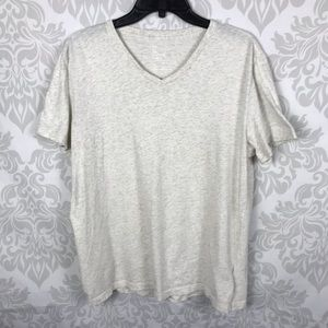 Gap Mens Light Oatmeal V Neck Cotton Top